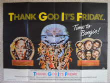 Thank God It's Friday, UK Quad Poster, Donna Summer, Commodores, '78